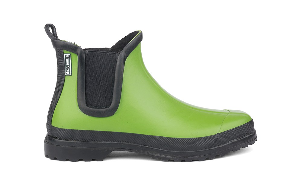 vegan rubber boot grand step shoes victoria green. Black Bedroom Furniture Sets. Home Design Ideas