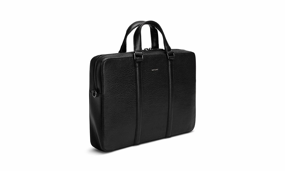 vegan briefcase matt \u0026 nat harman black avesu vegan shoes  vegane aktentasche matt \u0026 nat harman black