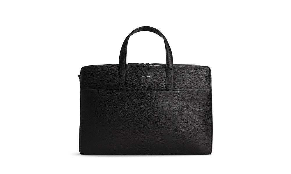 vegan briefcase matt \u0026 nat tom black avesu vegan shoes  vegane aktentasche matt \u0026 nat tom black