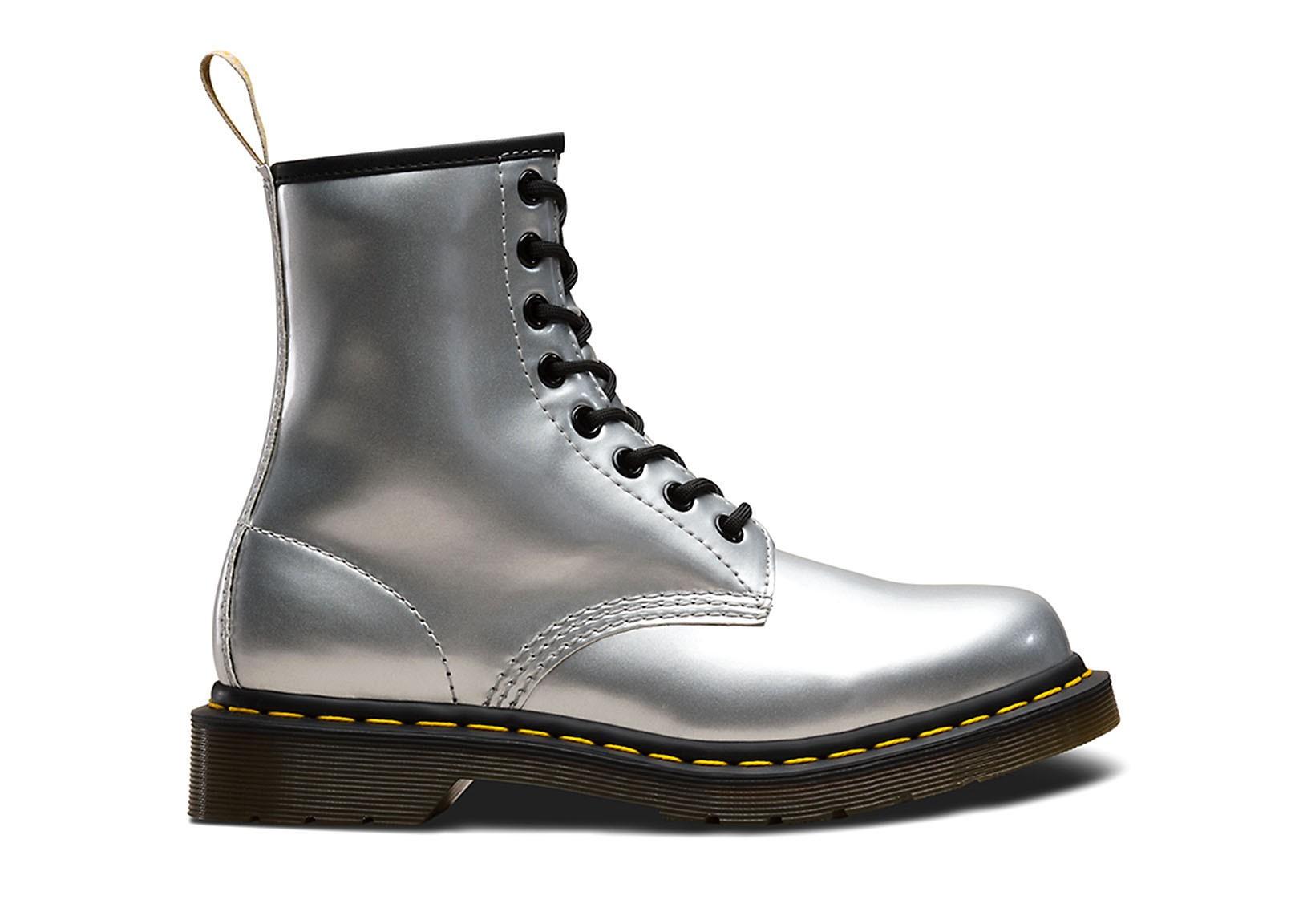 premium selection on wholesale multiple colors Vegan Boot | DR. MARTENS 1460 8-Eye Boot Chrome Paint Silver ...