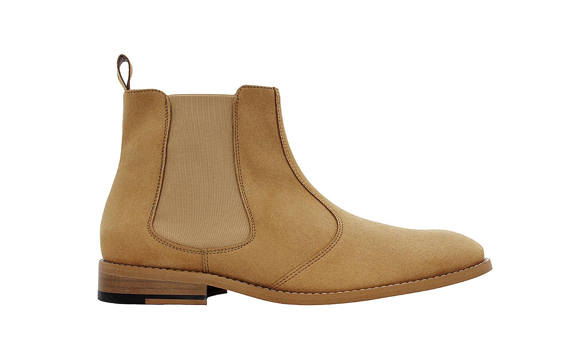 vegan suede chelsea boots