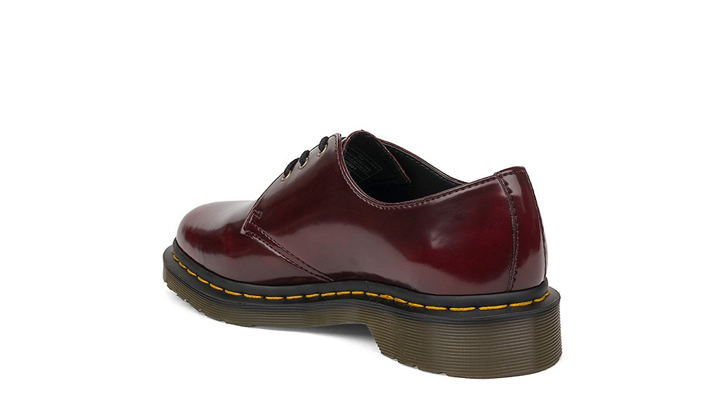 Martens Red Maroon Vegan 1461 Shoes Lace Up New Womens Dr