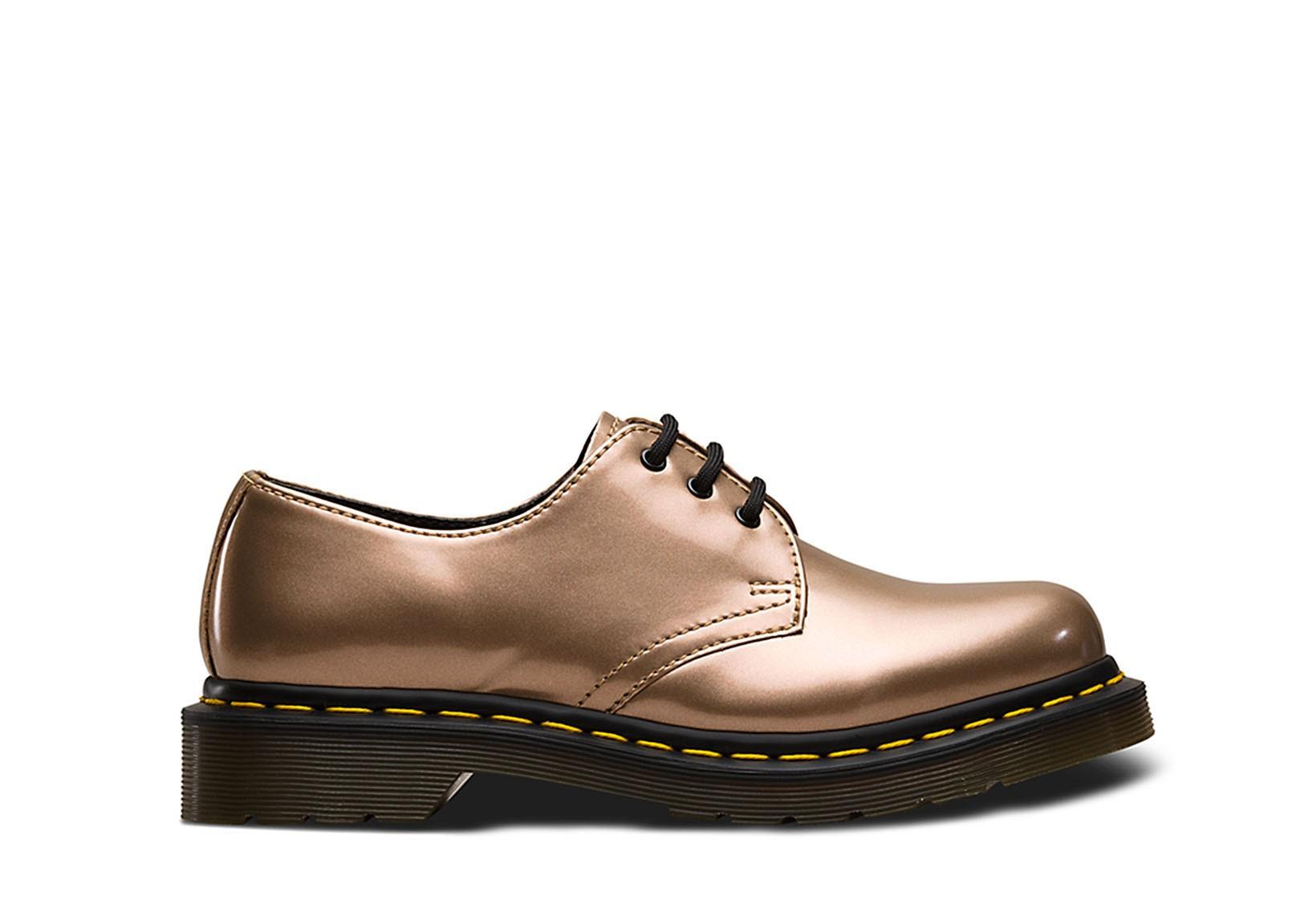 dessins attrayants différents types de plutôt cool Vegan Lace-up Shoe | DR. MARTENS 1461 3-Eye Shoe Chrome ...