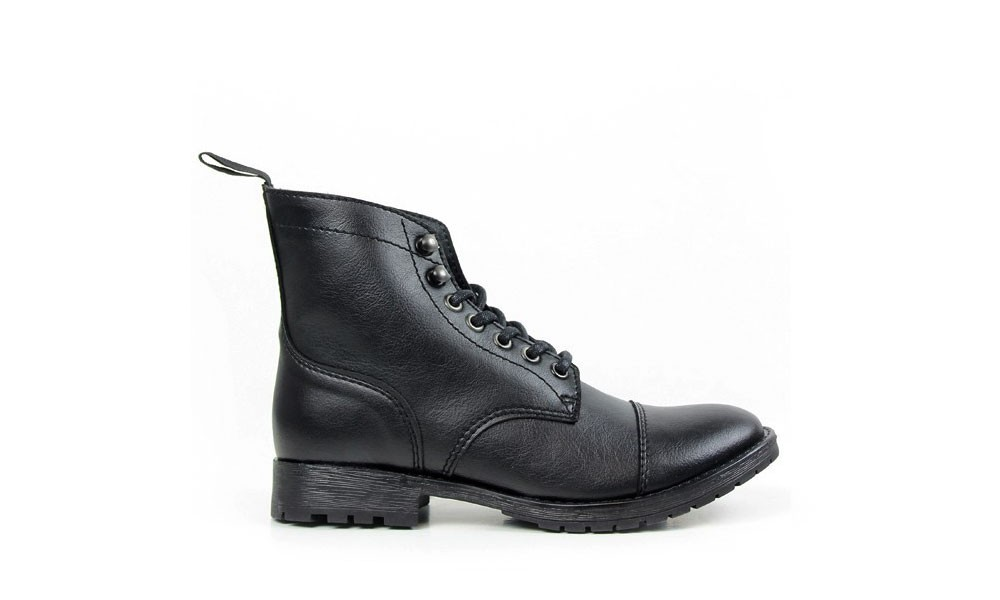 WILL'S VEGAN SHOES Work Boot Black