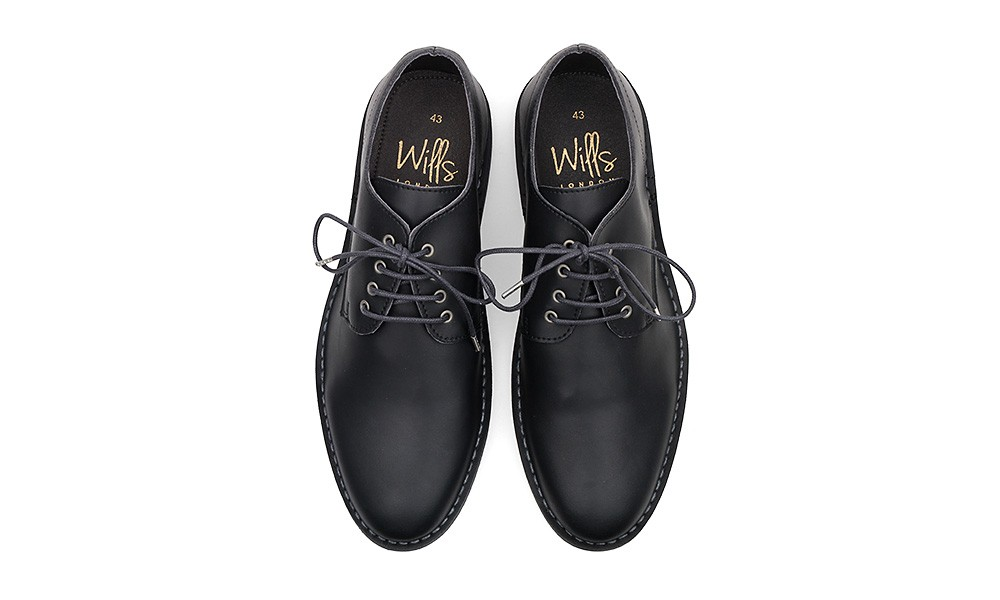 WILL'S VEGAN SHOES Casual Derby Black