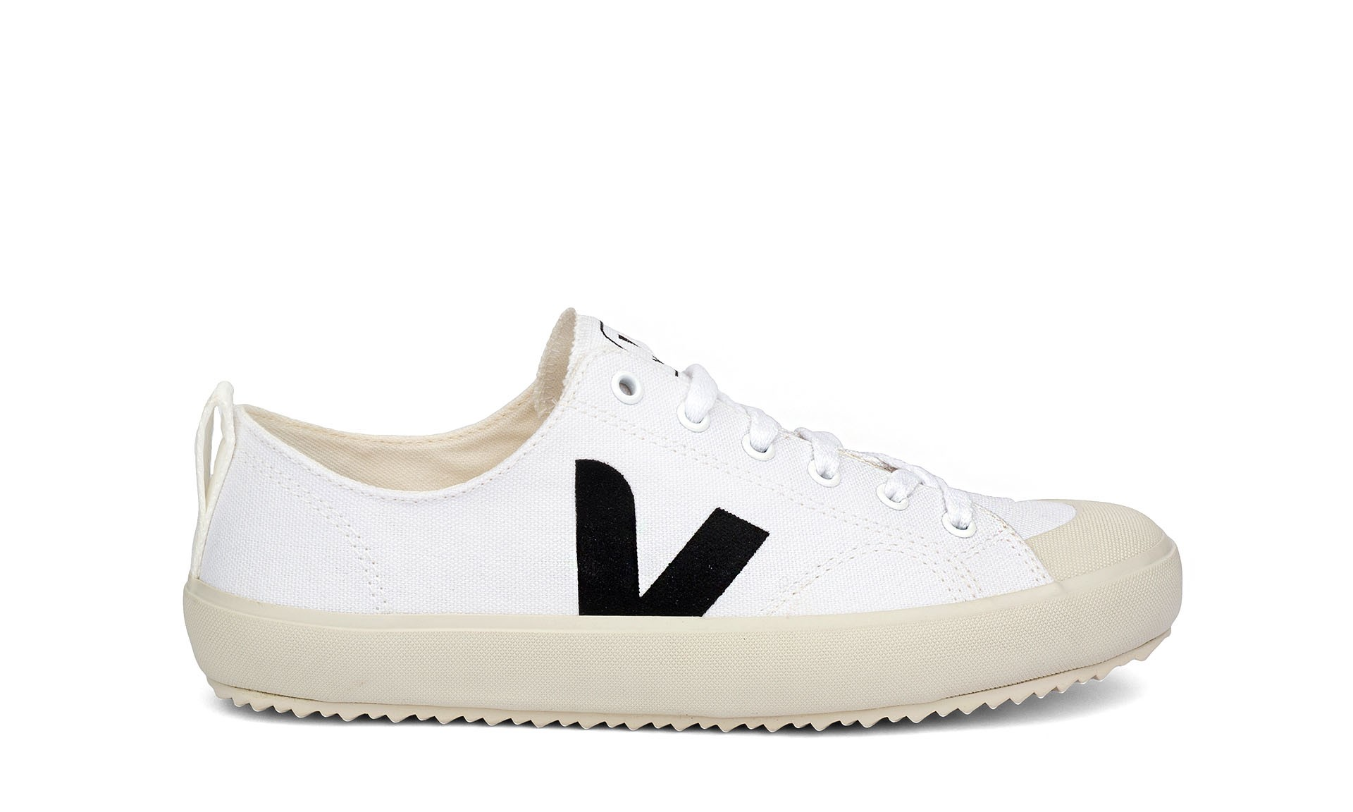 Incienso Galleta Perth Blackborough  Vegan Sneaker | VEJA Nova Canvas White Black | avesu VEGAN SHOES