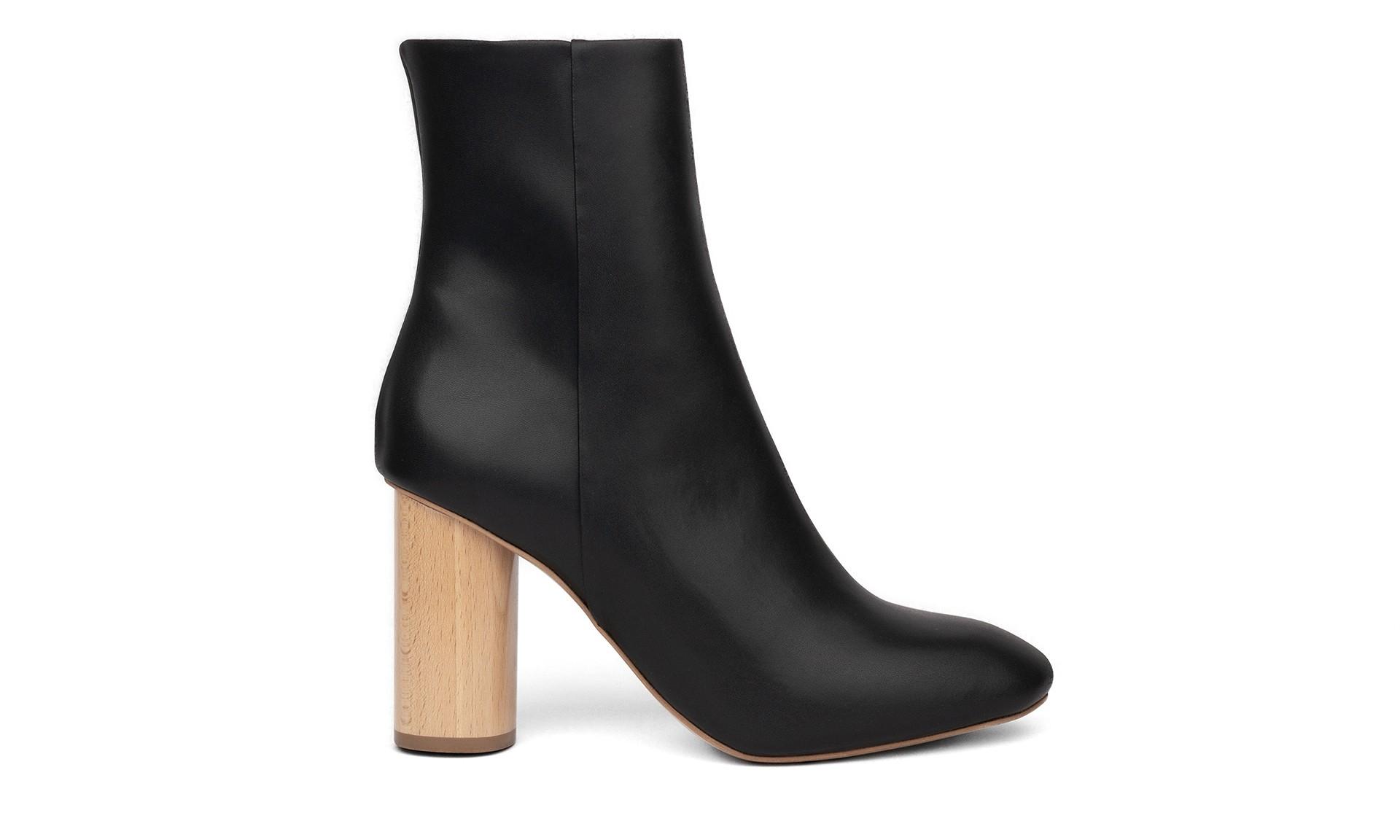 SYDNEY BROWN High Ankle Boot Black