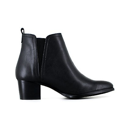 Vegane Damenstiefelette | VEGETARIAN SHOES Charlotte Boot Black
