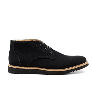 Veganer Chukka Boot | AHIMSA Thomas Canvas Black