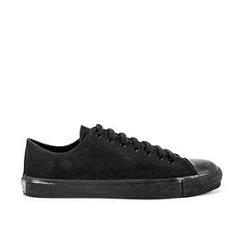 Veganer Sneaker | ETHLETIC Fair Trainer Black Cap Lo Cut Jet Black