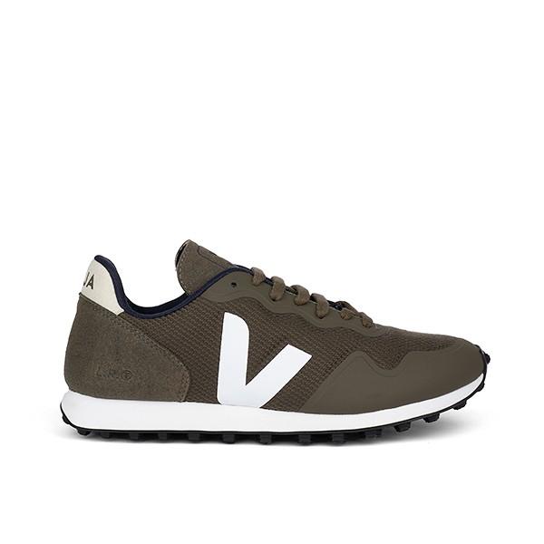Veganer Sneaker | VEJA SDU RT B-Mesh Olive White Black Sole