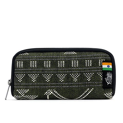 Vegane Brieftasche | ETHNOTEK Chiburi Accordion Wallet India 19