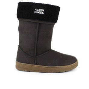 Veganer Damenstiefel | VEGETARIAN SHOES Highly Snug Boot Brown