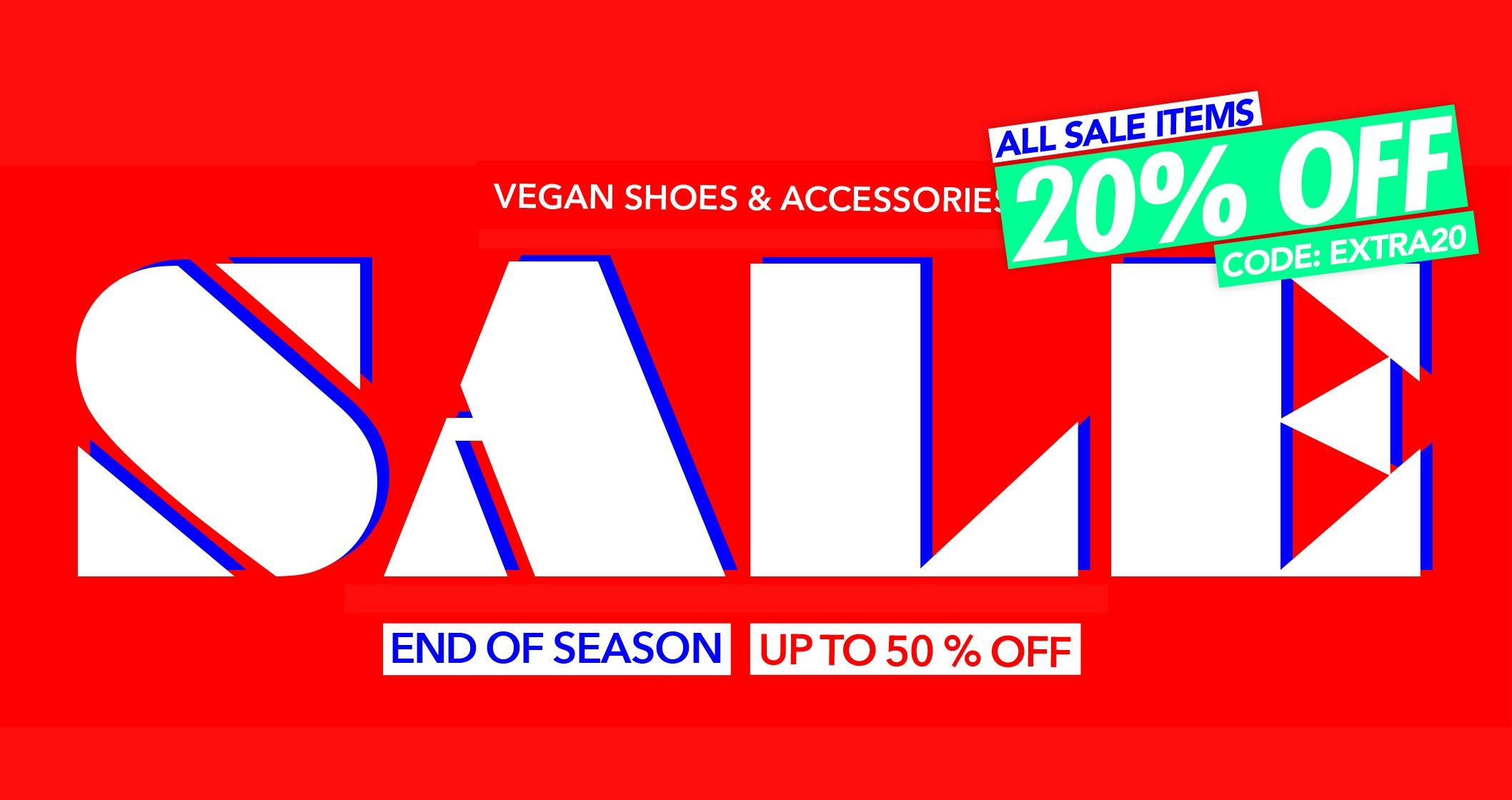 END OF SEASON | Vegan shoes on sale | Up to 50 % OFF vegan shoes and accessories